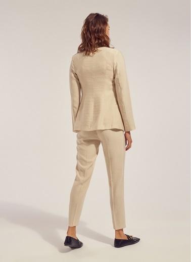 Monamoda Yüksek Bel Pantolon Taş